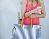 Striped Weekender Tote Bag - Lux