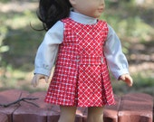 1960's Jumper and Blouse for 18 Inch Dolls like American Girl, Our Generation