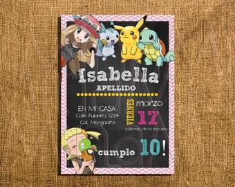 Pokemon Girl Birthday Party Printables