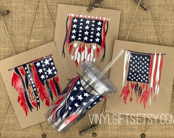 American Flag Decal / Fourth of July Party / Flag Decal / Feather Flag / Independence Day / July 4th