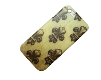 Gold Fleur De Lis, Paris, Royal, Vintage, iPhone Case, Phone Case iPhone 6, iphone 5, iphone 7, iphone SE, iphone 6 plus, iphone 7 plus