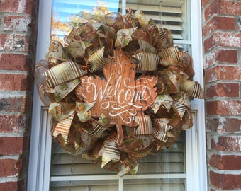 Welcome Fall Holiday Wreath