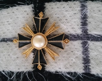 Maltese Cross Brooch by Saint John
