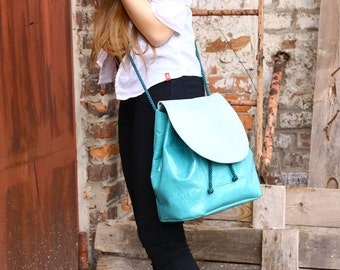 Backpack, handbag, crossbody bag, shoulder bag 4 in 1, eco leather, vegan leather, faux leather