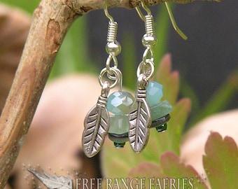 Ocean Feather Gemstone Earrings
