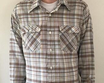 Vintage 80s Levi's Plaid Button Up Shirt