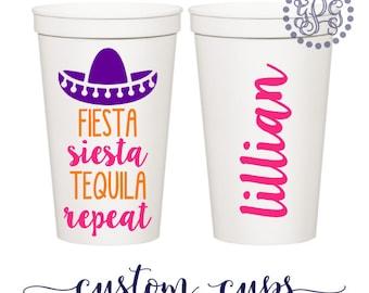 Bachelorette Party Favors, Bachelorette Party Cups, Fiesta Bachelorette Party, Bachelorette Cups, Bachelorette Party, Fiesta Siesta Tequila