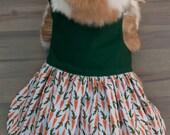Reversible Carrot Rabbit Dress