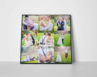 Gift for wife, Photo Canvas Print, Square canvas, Personalized photos, Photo Collage, Photo on Canvas, Photo Collage Print, Collage wall art