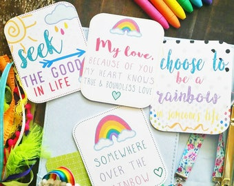 Rainbows in the Air | Planner Cards by Lavish Paper Co. | Great for Planners, Scrapbooking or Journaling | die-cut, ephemera
