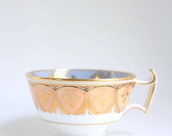 Vintage Teacup, Peach Teacup, Blue Teacup, Peach and Blue Teacup, Single Teacup, Periwinkle Teacup, Floral Teacup, Peach & Gold Teacup