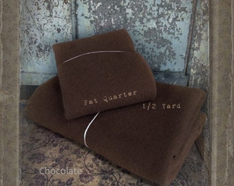Wool: Fat Quarter 100% Wool - Chocolate- Seasons Wool by Marcus Fabrics