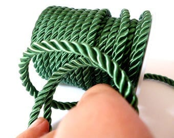 5 mm Green Braided Silk Cord_PP01244557443_ BRAIDED/ Green Cord_of 5 mm_Sales by yards