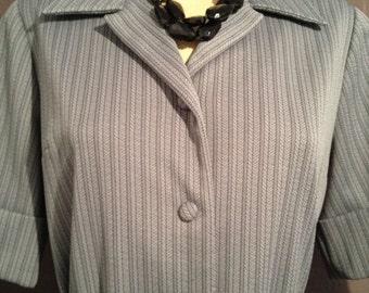 Late 60s grey shirt dress