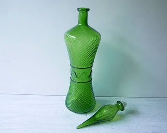 Funky Retro Glass Genie Bottle