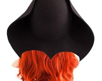 Gothic has Bathat tricorn Pirate hat Gothic of Black Hat Fedora Gothic accessory mask magic black