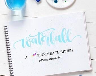 Procreate Brushes | Procreate App Brush | Water Brush | Watercolor Brush | Paint Spray Brush | Brush Combo Pack | Digital Art Brush