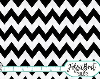 BLACK AND WHITE Chevron Fabric by the Yard Fat Quarter Zigzag Black & White Fabric 100% Cotton Quilting Fabric Apparel Fabric Yardage a2-35
