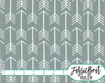 GRAY ARROW Fabric by the Yard Fat Quarter Trendy Arrows Fabric Tribal Boy Quilt Fabric Apparel Fabric 100% Cotton Fabric Yardage a2-12