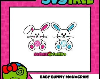 Easter Bunny SVG Easter Monogram SVG Bunny Ears SVG, Easter Bunny Boy, Easter Bunny Girl