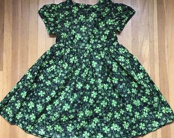 Irish Clover Girls Glittery Black Dress Size 3T, 4T