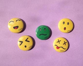 Emoji Style Badges x 5