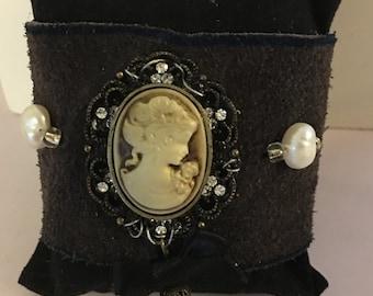 Cameo Brown cuff bracelet
