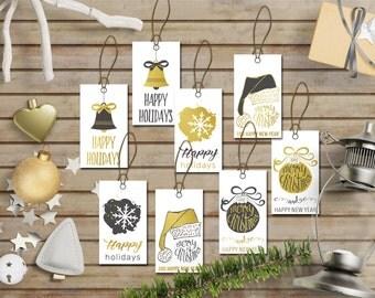 Christmas Tags Printable, Holiday Gift Tags, Christmas Labels, Printable Christmas Tags, Printable Gift Tags, Christmas Favor Tags