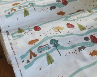 Camping Crib Sheet, Organic Baby Bedding, Woodland Changing Pad Cover, Birch Fabrics Feather River,Camping Toddler Bedding, Woodland Nursery