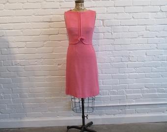 Vintage pink dress | Etsy