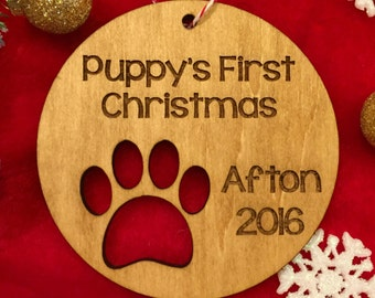 puppy's first christmas ornament dog christmas gift
