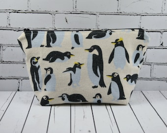 Penguins Cosmetics Bag, Penguin Makeup Bag
