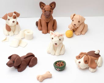 Fondant dogs and dog toy cake toppers - Earliest possible estimated arrival: October 20th