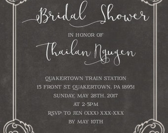 Bridal Shower Party Invitation (Digital)