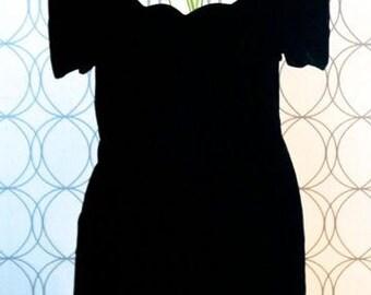 90's velvet mini dress