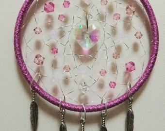 Heart's Delight Pink Dreamcatcher 3 inch
