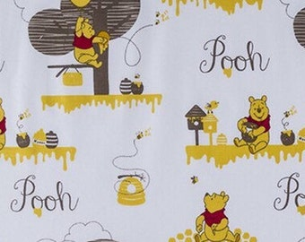 DISNEY WINNIE the POOH hunny Fabric  100% Cotton Quilting Apparel Crafts Home decor