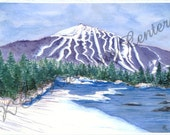 "Original  Watercolor Painting ~ ""SUGARLOAF from the RIVER"" ~ Local Sugarloaf Art"