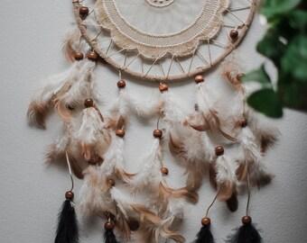 Minimalist Large Dreamcatcher - Tumblr Unique Handmade Home Decoration Boho Indie Hippie Wall Decor Feathers Gift Large Dream Catcher