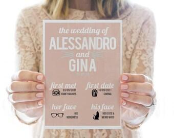 Printed OR Printable wedding program // About Us
