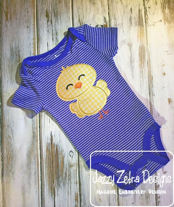 Chick 1 applique embroidery Design - Easter appliqué design - chick appliqué design - farm appliqué design - boy appliqué design