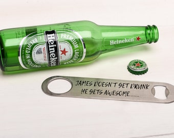 Personalised Bottle Opener Gift for him.  Birthday Gift, Great Gift for Him.