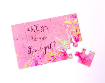 Flower Girl Proposal Puzzle - Will You Be Our Flower Girl? - Flower Girl Gift Box - Bridal Party Proposal
