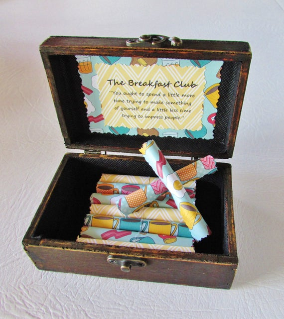 Breakfast Club Birthday Gift Breakfast Club Anniversary Gift Christmas Gift Breakfast Club Scroll Box Breakfast Club quotes Wife Anniversary