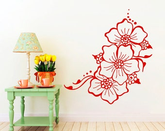 Flower Wall Decals Spring Vinyl Stickers Home Decals Decor Window Removable Decals CC55
