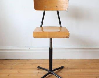 Vintage industrial adjustable chair