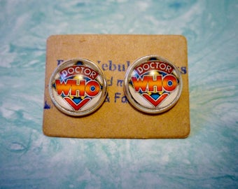 Classic Doctor Who Earrings, Doctor who jewelry, doctor who gift, doctor who logo, original doctor who, classic who, doctor who cosplay