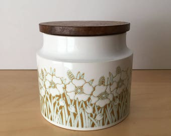 Vintage Hornsea Pottery- Small Storage Jar- Fleur Design- Plain