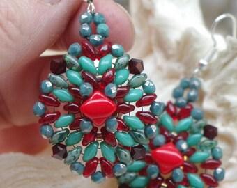 TRIBAL EARRINGS, dangle earrings, jewelry, hand made earrings, Australian made earrings, jane bari design