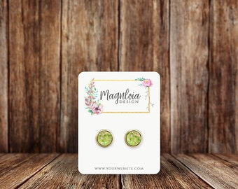 Custom Earring Cards | Rounded Rectangle | Jewelry Display Cards | SH015EA